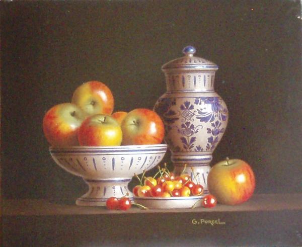 Superbe GEORGES PORCEL, peintre des natures-mortes &WA_08